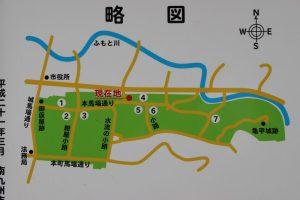 知覧武家屋敷の散策図
