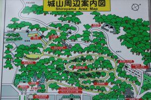 城山散策図