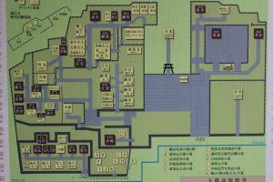 島津家累代のお墓の案内図