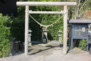 仙巌園の水神様