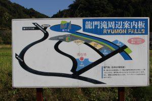 龍門滝の案内図