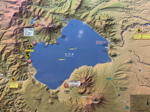 支笏湖とオコタンペ湖の関係
