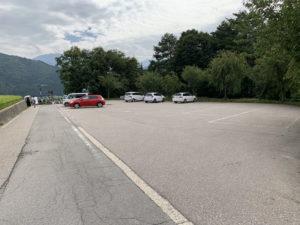 荻町城跡展望台の駐車場