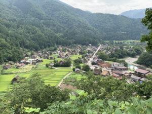 荻町城跡展望台から白川郷