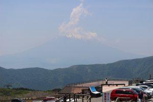 大涌谷から富士山