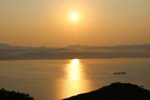函館の日没