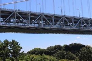 瀬戸大橋を通る列車