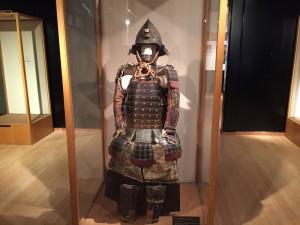 常盤木門の展示甲冑