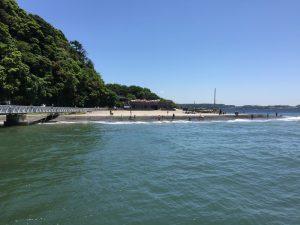 猿島の海水浴場