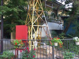 渋温泉の温泉井戸