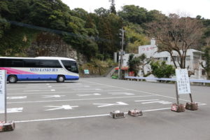 鵜戸神宮の駐車場(観光バス用)