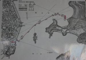 仙酔島行きの渡船航路