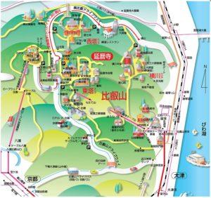 比叡山延暦寺の全体案内図
