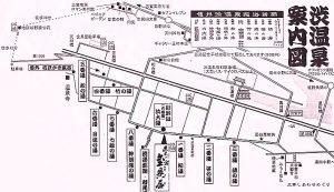 渋温泉の外湯地図